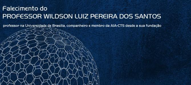 Falecimento do PROFESSOR WILDSON LUIZ PEREIRA DOS SANTOS